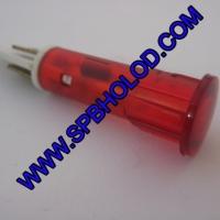 Лампа индикаторная сигнальная диаметром 10мм на 220 вольт цвет красный