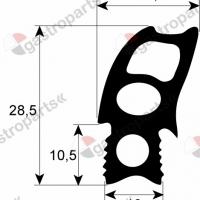 Уплотнительная резина на Rational РАЦИОНАЛ для модели SCC / CM 101